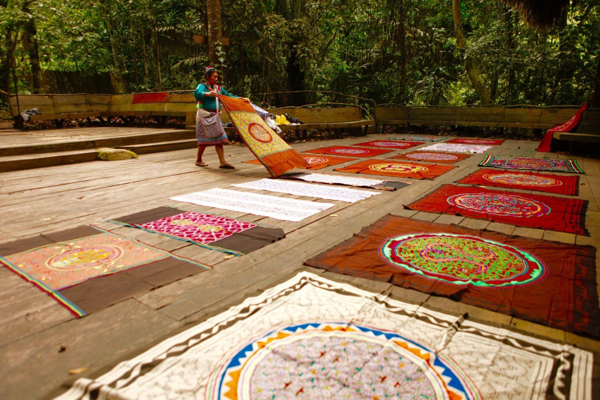Shipibo cloths