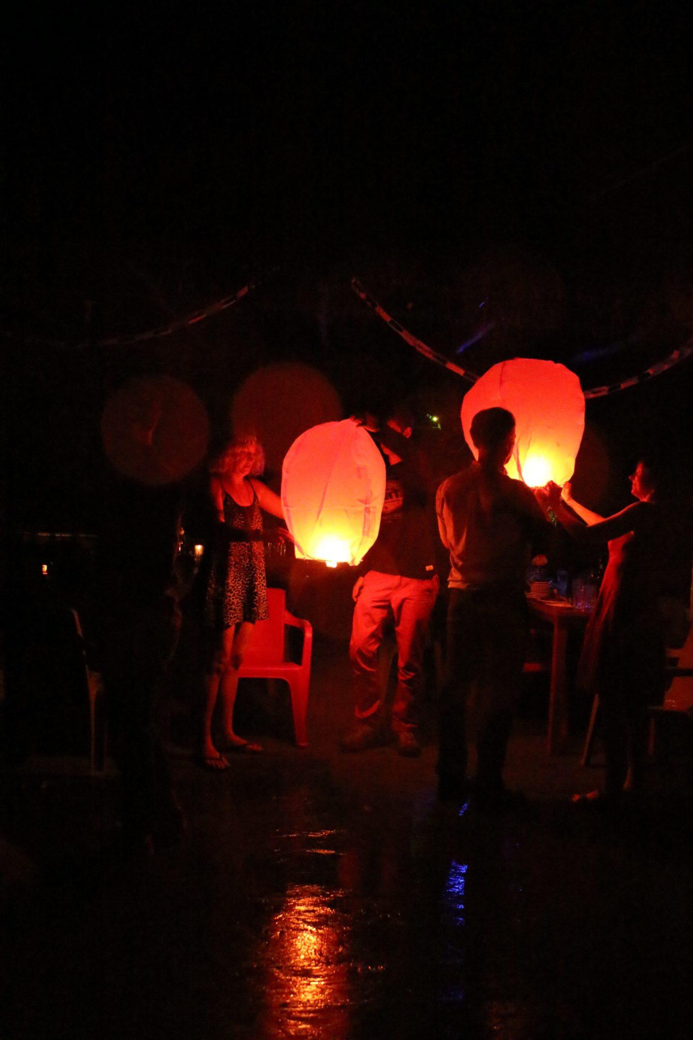 Lighting the lanterns