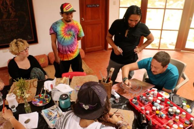 Art class with Luis Tamani