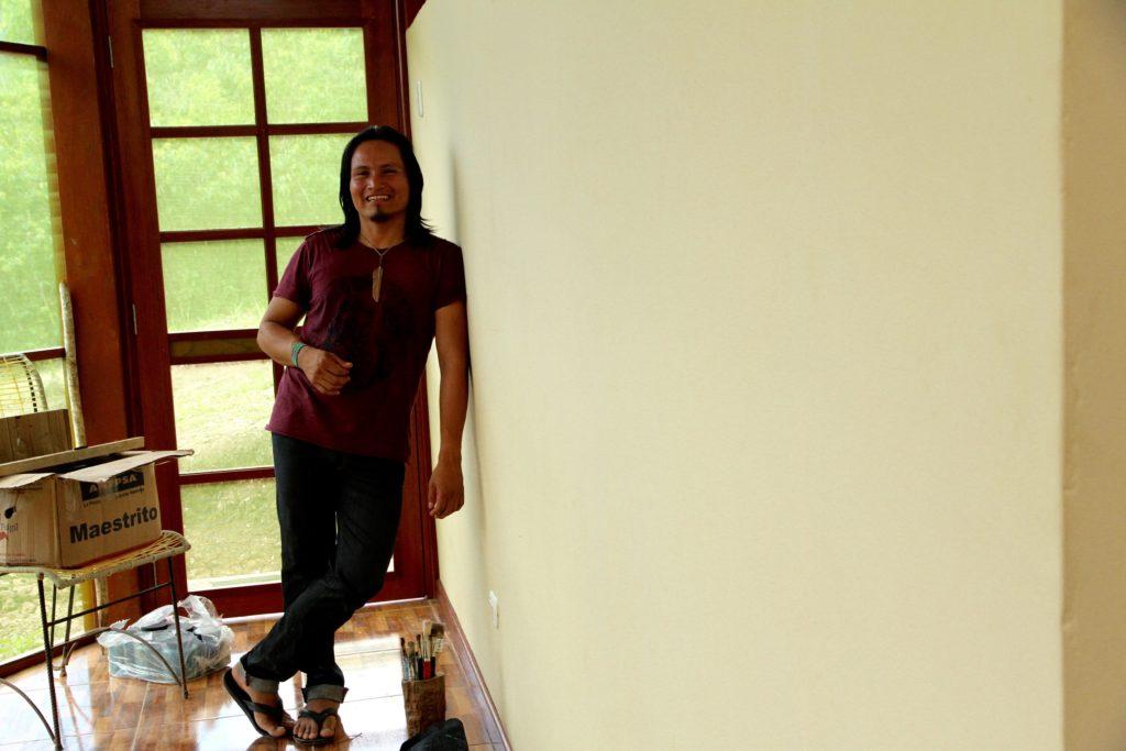 Luis Tamani and his wall