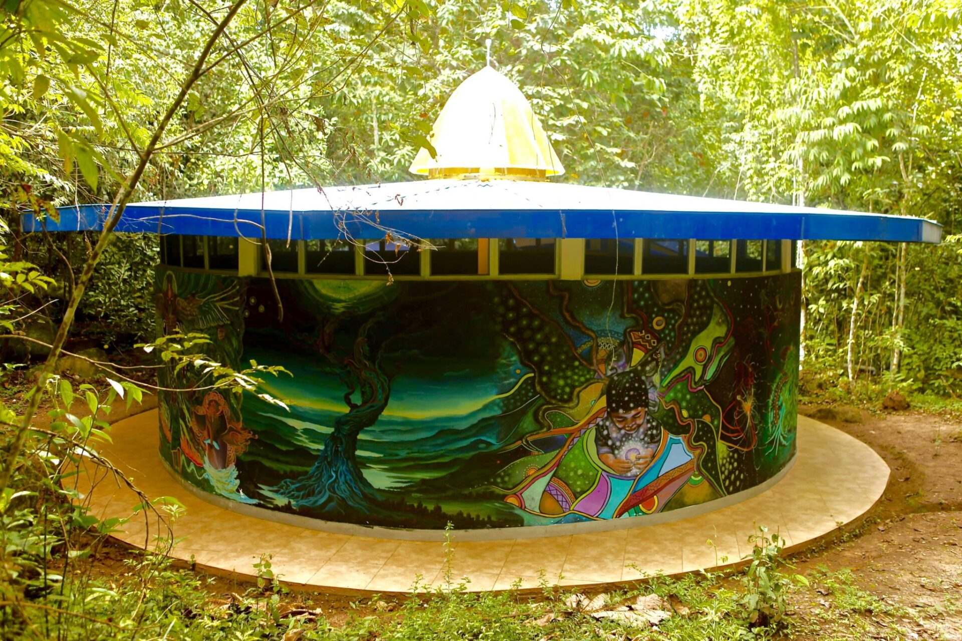La Astronave, a purpose built gallery in honor of the Goddess Ayahuasca!