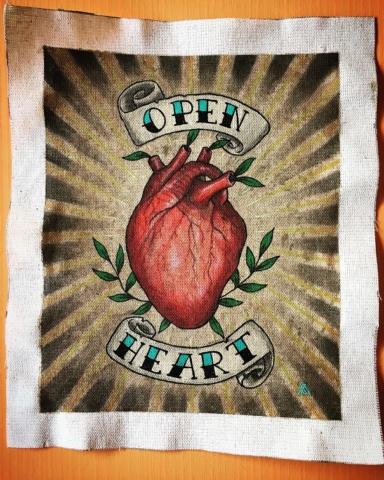 Open heart painting by Metsa